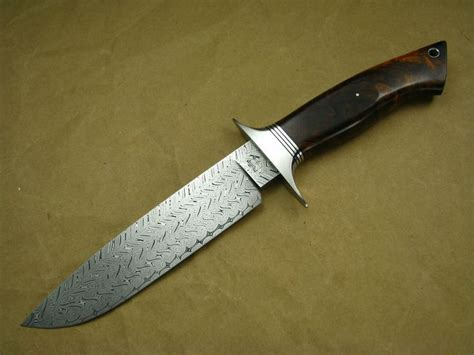define bowie knife turkish twist damascus gent s bowie knives i ve made