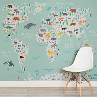 World Exporer Wall Mural - world map wallpaper murals wallpaper