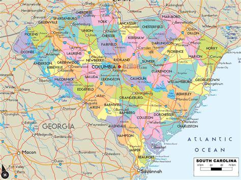 south carolina on map of usa south carolina cities map