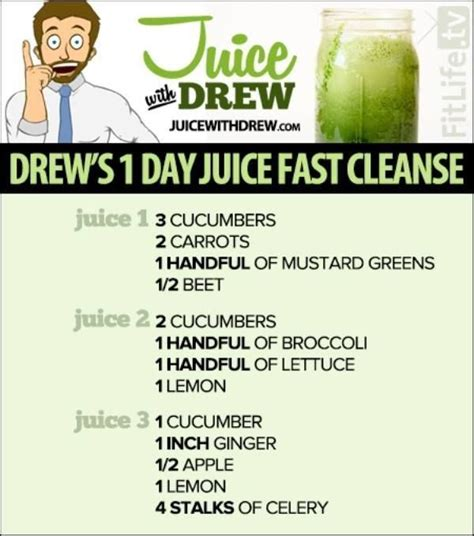 Detox With Drew Reviews by Drew S 1 Day Juice Fast Cleanse Here Is A List Of A Few