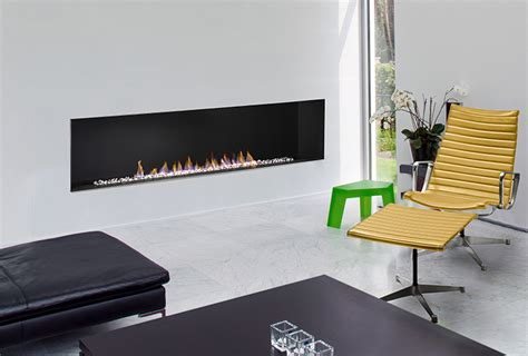 H Series Modern   Vent Free   Open Face   Linear Gas Fireplace