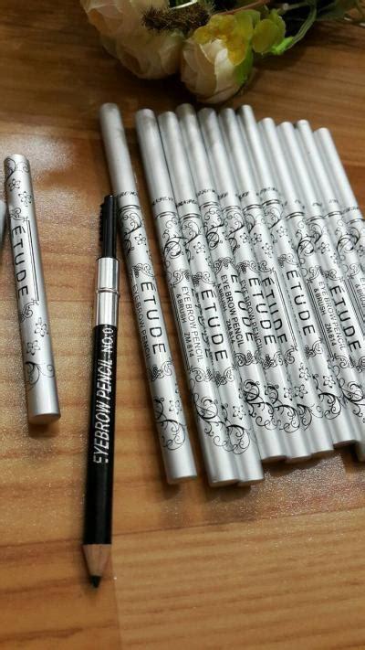 Pensil Alis Davis Murah Warna Brown Sikat Brush Isi 12 pensil alis anoashop kosmetik dan kutek murah