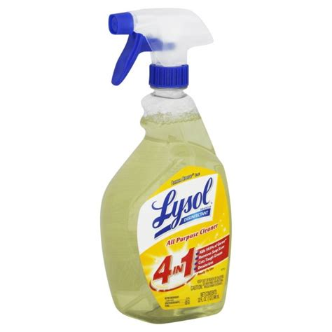 lysol disinfectant     purpose cleaner lemon breeze trigger spray
