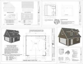 Blueprints For Garages G527 24 X 24 X 8 Garage Plans With Loft And Dormers Dwg