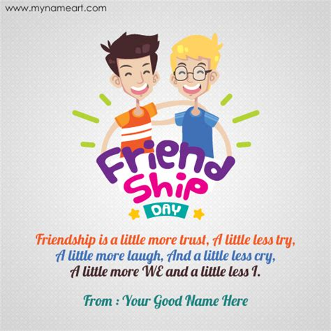 how to make greeting cards for friendship day write name on friendship day card for best friend