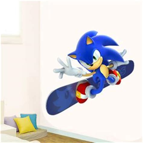 sonic wall stickers wall sticker sonic the hedgehog gift mural removable decal 2