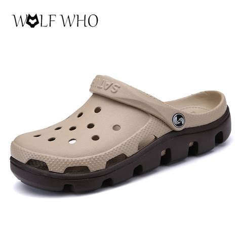 Sepatu Wanita Casual Heels Flat Clog Wedges Sandal 3 wolfwho new summer sandals casual shoes mules clogs breathable slippers water