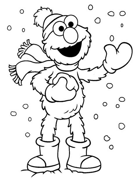 elmo christmas printable coloring pages free printable