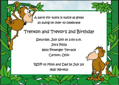 monkey business birthday party invitations