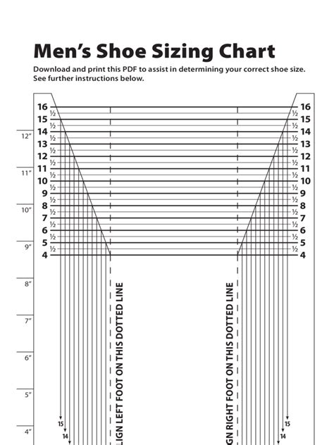 shoe size chart 10 free templates in pdf word excel