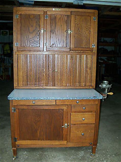 antique oak hoosier cabinet newly restored kitchen