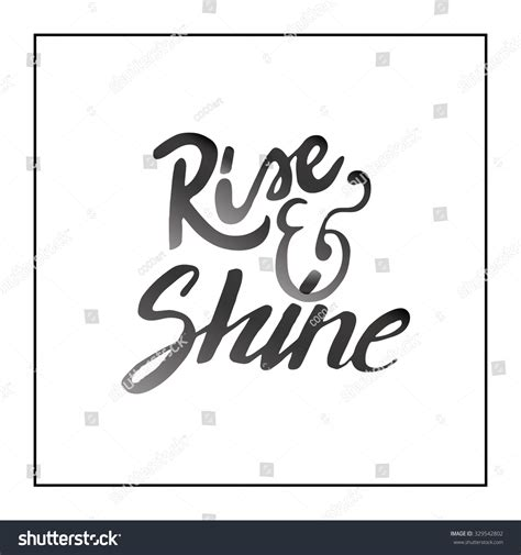 Ink Hand Lettering Modern Calligraphytemplate Your Stock Vector 329542802 Shutterstock Modern Calligraphy Templates