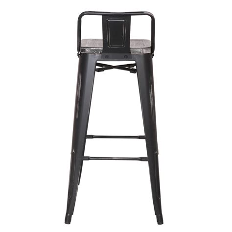 30 inch black metal bar stools joveco 30 inches distressed metal bar stool with low back