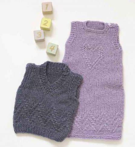free baby vest knitting pattern dress and vest free baby knitting patterns knitting bee