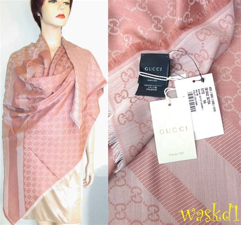Square Basic Sally Scarf Dusty gucci wool silk dusty monogram 55 quot sq scarf pashmina shawl nwt authen ebay