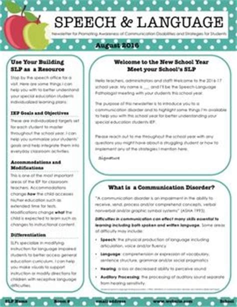 Parent Letter Speech Therapy 1000 Ideas About Introduction Letter On Introduction Introduction