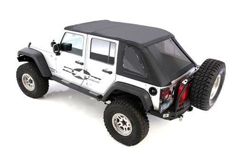 Aftermarket Jeep Soft Tops All Things Jeep Bowless Combo Replacement Soft Top With