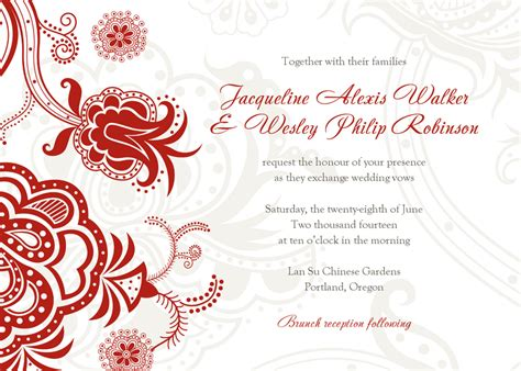 wedding invitation free template free printable wedding invitation card template