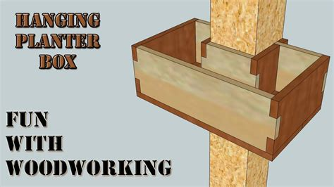 How To Make A Hanging Planter Box by Project How To Build A Wraparound Hanging Planter Box