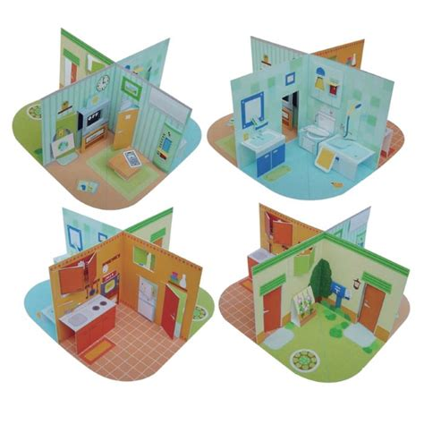 printable pop up papercraft dollhouse