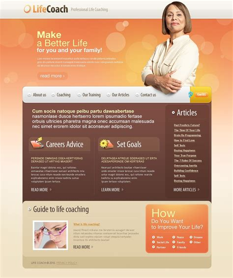 Website Templates For Life Coaches | life coach website template 31443