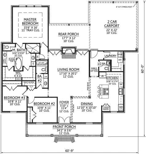 Acadian Style Floor Plans by European Style House Plans 2047 Square Foot Home 1
