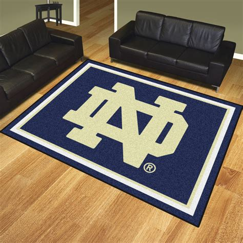 notre dame fighting 8 x 10 area rug