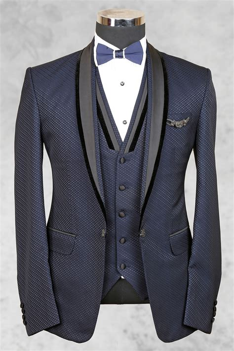 bluish grey bluish grey admirable italian suit with shawl lapel st455