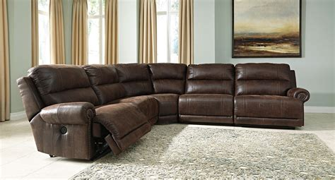 modular reclining sectional sofa luttrell espresso modular reclining sectional sectionals