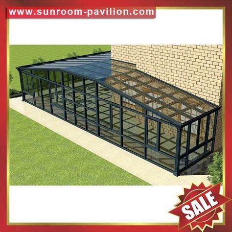 modern villa garden transparent glass alu aluminum sun