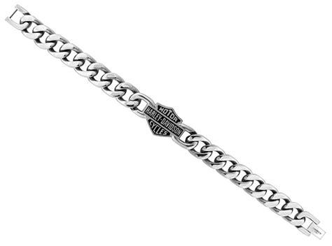 Gelang Logo Skull Hd Chain Stainless Steel harley davidson s bar shield stainless steel chain bracelet hsb0015 ebay