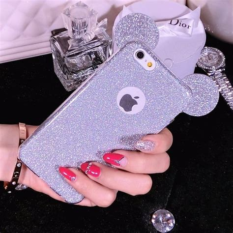 Mickey Bling Back Cover For Iphone 6 Plus 6s Plus for iphone 6s 6 6s plus bling mickey mouse ears soft