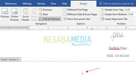membuat nomor halaman berbeda dalam satu dokumen cara membuat nomor halaman di word untuk pemula 100 rapi