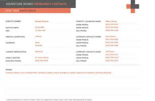 emergency contact form template emergency contact form template emergency contact template