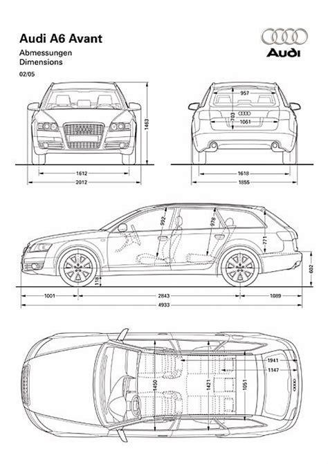 Audi A4 Avant Abmessungen by Audi A6 Avant Abmessungen Technische Daten L 228 Nge