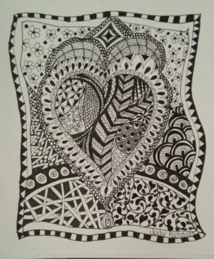 heart zentangle pattern 528 best images about zentangle hearts on pinterest
