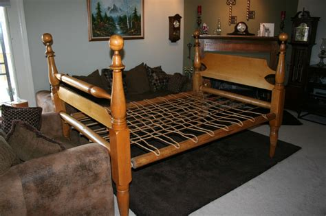 3 4 bed size 3 4 size rope bed with pegs antique country bedroom ebay