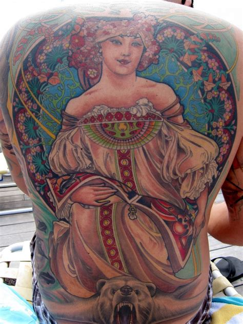 alphonse mucha tattoo 2010 march 21
