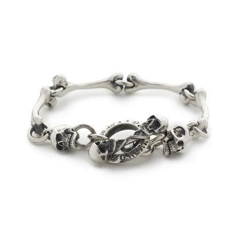 Bones Bracelet bones bracelet with skull ends the great frog