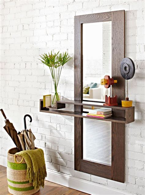 make an entry mirror dress up an entryway with a modern