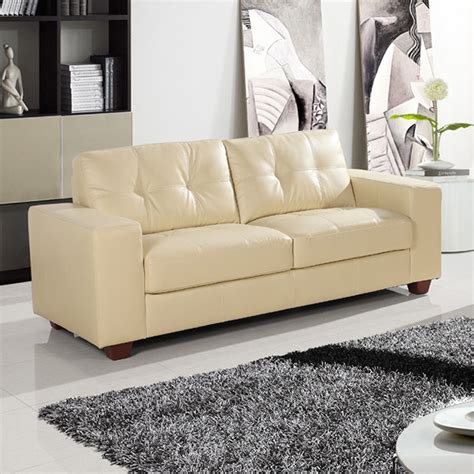 strada ivory leather sofa collection