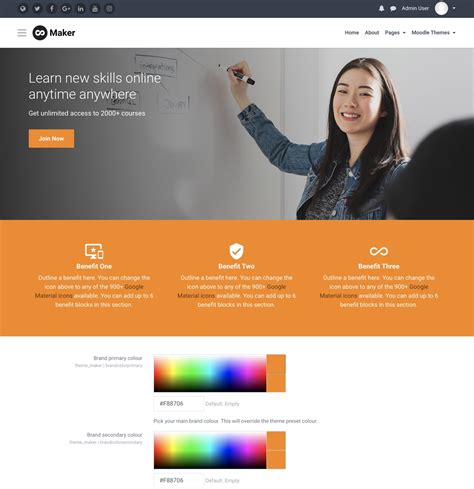 moodle theme creator software how to customise moodle theme maker to use your brand s