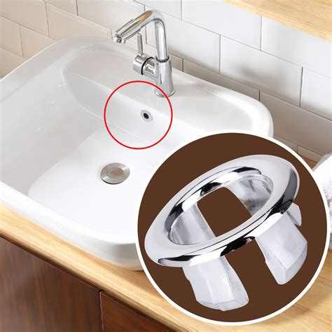 bathroom sink cover 5 pcs bathroom basin sink overflow ring chrome cover trim