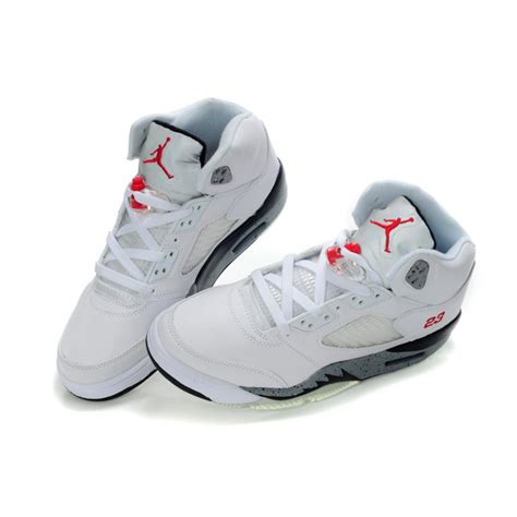 womens jordans shoes air 5 white grey dots price 74 95