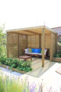 a contemporary garden shelter from jacksons fencing a timber structure with a 25 year