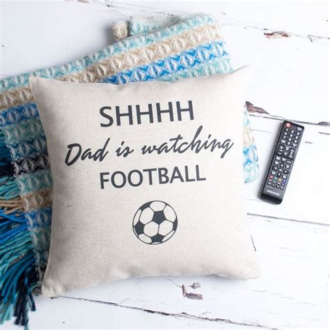 gift ideas for football fans gifts for him ideas personalised football fan cushion