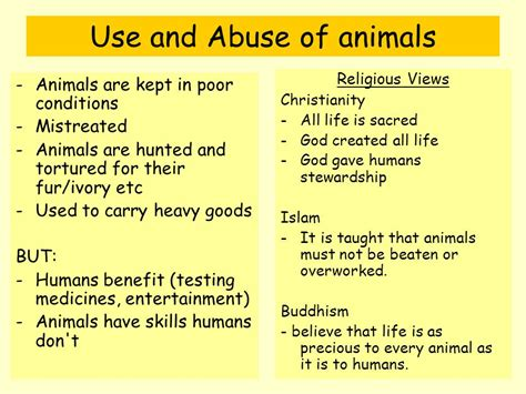 Reasons For Animal Testing by Religious Attitudes To Animal Rights What Do We Need To
