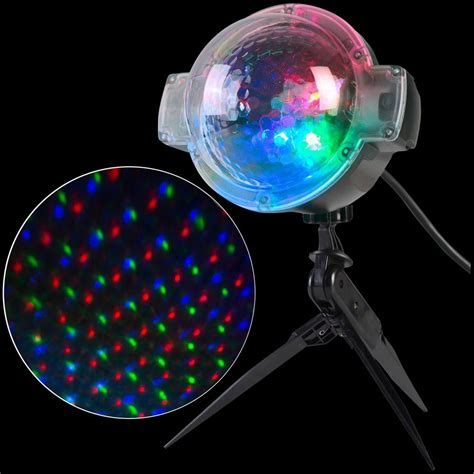 Led Light Projector by Applights Led Projection Snowflurry 49 Programs Stake Light 39109 The Home Depot