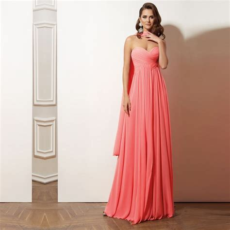 colored bridesmaid dresses coral colored bridesmaid dresses strapless floor