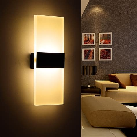 Wall Lights For Drawing Room Modern Led Wall L Acryl Bed Room Wall Light Living